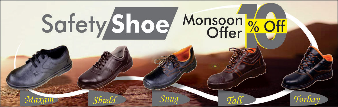 Safety Shoe - Monsoon Offer - 10% Off.